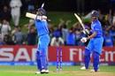 Manjot Kalra and Harvik Desai celebrate India's win, Australia v India, Under-19 World Cup, final, Mount Maunganui, February 3, 2018