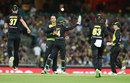 Ashton Agar celebrates removing Ross Taylor, Australia v New Zealand, Trans-Tasman T20, Sydney, February 3, 2018