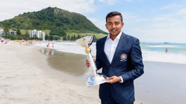 Prithvi Shaw is all smiles with the Under-19 World Cup trophy