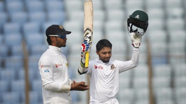 Mominul Haque became the first Bangladesh player to score centuries in each innings of a Test