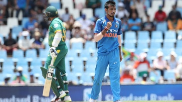 Yuzvendra Chahal picked his first ODI five-for