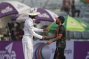 Dinesh Chandimal and Mominul Haque shake hands, Bangladesh v Sri Lanka, 1st Test, Chittagong, 5th day, February 4, 2018