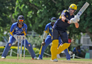 Sean Ervine steers one onto the leg side, Trinidad and Tobago v Hampshire, Regional Super50, Barbados, February 3, 2018