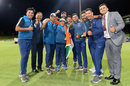 The India Under-19 support team poses for a picture after India's win, Australia v India, Under-19 World Cup final, Mount Maunganui, February 3, 2018