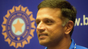 Rahul Dravid sports a smile at the post-arrival press conference of the India Under-19 team