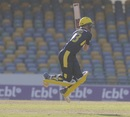 Brad Taylor goes airborne and pulls, Hampshire v  Combined Campuses and Colleges, Regional Super50, Barbados, February 5, 2018