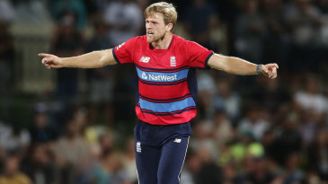 David Willey claimed two wickets in his opening over