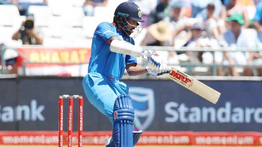 Shikhar Dhawan targets the off side