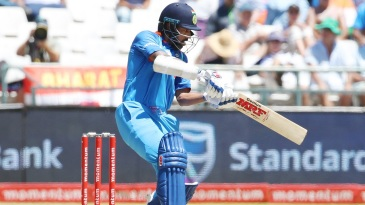 Shikhar Dhawan targets the off side