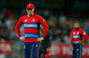 Glenn Maxwell had a life when Jason Roy was adjudged to have grounded a catch, Australia v England, 2nd match, T20 Tri-Series, Hobart, February 7, 2018