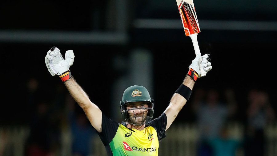Glenn Maxwell brought up his hundred with a six that also sealed victory