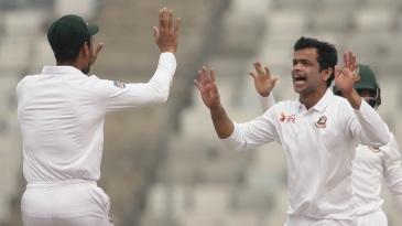 Abdur Razzak celebrates a wicket