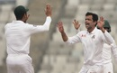Abdur Razzak celebrates a wicket, Bangladesh v Sri Lanka, 2nd Test, Mirpur, 1st day, February 8, 2018
