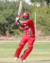 Zeeshan Maqsood pulls through square leg early in his innings, Canada v Oman, ICC World Cricket League Division Two, Windhoek, February 8, 2018
