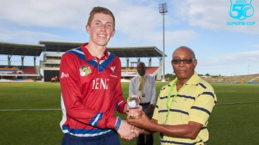Zak Crawley was Man of the Match for his 99 not out