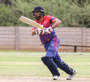 Sharad Vesawkar drives down the ground, Namibia v Nepal, ICC World Cricket League Division Two, Windhoek, February 8, 2018