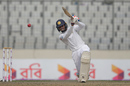 Dhananjya de Silva lifts one over extra cover, Bangladesh v Sri Lanka, 2nd Test, Mirpur, 2nd day, February 9, 2018