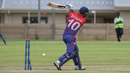 Sompal Kami has his off stump shattered by Craig Williams, Namibia v Nepal, ICC World Cricket League Division Two, Windhoek, February 8, 2018