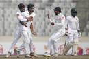 Dilruwan Perera dismissed Tamim Iqbal in the second over, Bangladesh v Sri Lanka, 2nd Test, Mirpur, 3rd day, February 10, 2018
