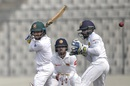 Mominul Haque cuts off the back foot, Bangladesh v Sri Lanka, 2nd Test, Mirpur, 3rd day, February 10, 2018