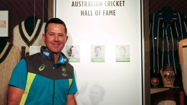 Ricky Ponting is one of the three inductions to the Australian Cricket Hall of Fame