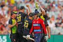 Jason Roy fell cheaply to Kane Richardson, Australia v England, Trans-Tasman T20 tri-series, Melbourne, February 10, 2018