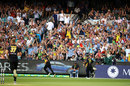 Aaron Finch completes a catch in front of his home crowd, Australia v England, Trans-Tasman T20 tri-series, Melbourne, February 10, 2018