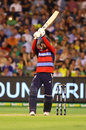 Up periscope: David Willey deflects a short ball to fine leg, Australia v England, Trans-Tasman T20 tri-series, Melbourne, February 10, 2018