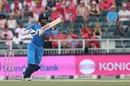 Shikhar Dhawan drives down the ground, South Africa v India, 4th ODI, Johannesburg, February 10, 2018