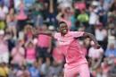 Lungi Ngidi enjoys a wicket, South Africa v India, 4th ODI, Johannesburg, February 10, 2018