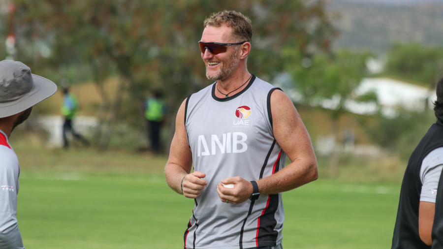 UAE coach Dougie Brown is rarely without a smile on his face around the squad