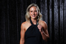 Ellyse Perry with the Belinda Clark Award, Melbourne, February 12, 2018