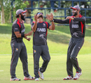 After a rocky start in the field, Imran Haider's prayers were answered with three wickets, Oman v UAE, ICC World Cricket League Division Two, Windhoek, February 12, 2018