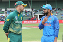 Virat Kohli and Aiden Markram have a chat ahead of toss, South Africa v India, 5th ODI, Port Elizabeth, February 13, 2018