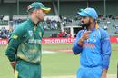 Virat Kohli and Aiden Markram have a chat ahead of toss, South Africa v India, 5th ODI, Port Elizabeth, February 13, 2018