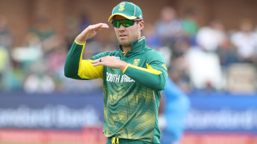 AB de Villiers gestures during play