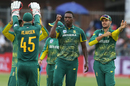 Lungi Ngidi rejoices after removing Hardik Pandya, South Africa v India, 5th ODI, Port Elizabeth, February 13, 2018