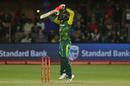 Heinrich Klaasen leaps to negotiate the ball, South Africa v India, 5th ODI, Port Elizabeth, February 13, 2018