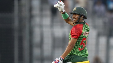 Soumya Sarkar marked his return to the Bangladesh team with a maiden T20I fifty