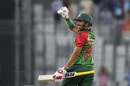 Soumya Sarkar marked his return to the Bangladesh team with a maiden T20I fifty, Bangladesh v Sri Lanka, 1st T20I, Mirpur, February 15, 2018