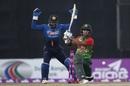 Zakir Hasan was bowled for 10 on debut, Bangladesh v Sri Lanka, 1st T20I, Mirpur, February 15, 2018