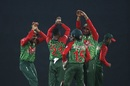 Nazmul Islam celebrates a wicket, Bangladesh v Sri Lanka, 1st T20I, Mirpur, February 15, 2018