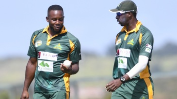 Kyle Mayers and Shane Shillingford have a chat