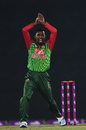 Nazmul Islam unveils a new wicket celebration, Bangladesh v Sri Lanka, 1st T20I, Mirpur, February 15, 2018