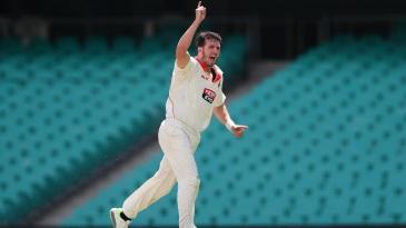 Daniel Worrall celebrates a wicket