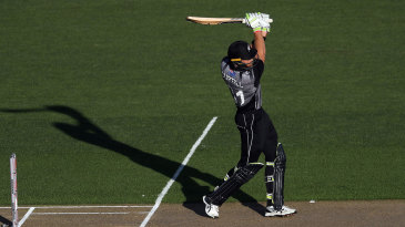 Martin Guptill drills down the ground