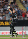 Martin Guptill reached his second T20I hundred, New Zealand v Australia, Trans-Tasman T20 tri-series, Auckland, February 16, 2018