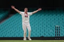 Nick Winter belts out an appeal, New South Wales v South Australia, Sheffield Shield 2017-18, Sydney, February 16, 2018