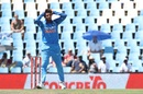 Kuldeep Yadav reacts after delivering a ball, South Africa v India, 6th ODI, Centurion, February 16, 2018