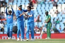 Virat Kohli and Yuzvendra Chahal celebrate Khaya Zondo's wicket, South Africa v India, 6th ODI, Centurion, February 16, 2018